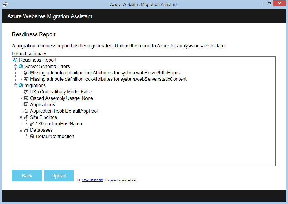Azure Website Migration Assistant