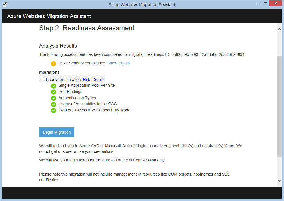 Azure Websites Migration Assistant